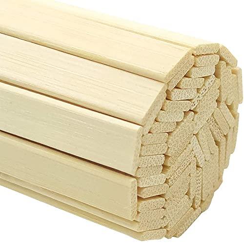 Palos De Madera Para Manualidades, Bambú Natural Fuertes, Varillas De Madera Para Manualidades, Tiras De Madera Para Proyectos De Manualidades 100 Varillas