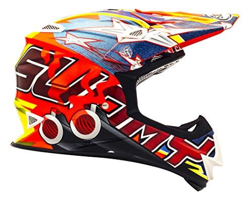 Suomy Helm Moto Cross MR Jump Jackpot, Mehrfarbig (Shots Orange), M