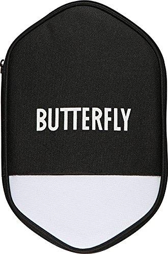 Butterfly - Tischtennishülle schwarz / weiß für zwei Tischtennisschläger und sechs Tischtennisbälle | Cell Case 2, Schlägerhülle