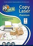Tico LP4W-3714 Etichette, Angoli Arrotondati, 37 x 14, Bianco, 100 Pezzi