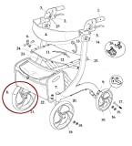 Front Wheel with Bearings for Drive RTL10266 Nitro Rollator Walker (Serial # 2A1606301542 and Newer)