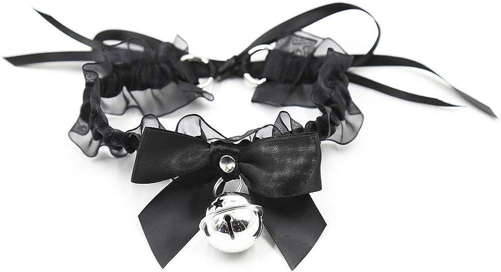 Black Punk Choker Charm Stretch Gothic Tattoo Chokers Necklace Set for Women Girls