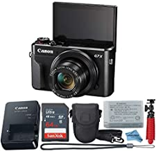 Canon Powershot G7X Mark II Point & Shoot Digital Camera + Accessory Bundle + Inspire Digital Cloth