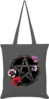 Grindstore Requiem Collective Floral Pentagram Tote Bag