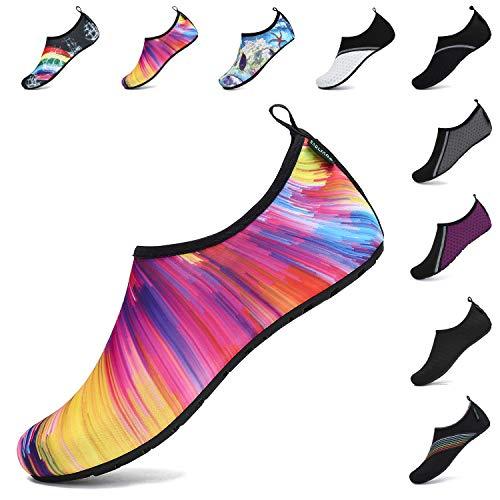 SAGUARO Zapatos Agua Mujer Zapato Calcetin Hombre Deporte Natación Zapatos de Verano Unisex Escarpines Agua Yoga Multicolor 38/39 EU