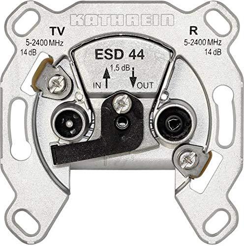 Kathrein ESD 44 Antennen-Steckdose, Durchgangstyp für BK & Sat (1 Stück)