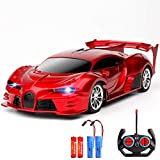 KULARIWORLD Remote Control Car 1/18 Rechargeable High Speed RC Cars Toys for Boys Girls Vehicle Racing Hobby with Led Light Gifts for Kids (Red)