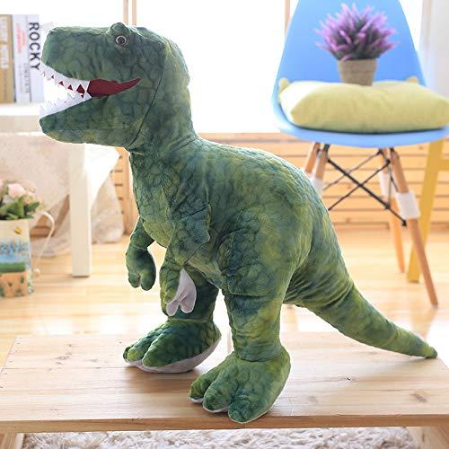 CGDZ Plüschspielzeug 50cm-80cm Simulation Dinosaurier Plüschtiere Kuscheltiere Plüsch Dinosaurier Kissen Puppen Kinder Mädchen Geschenke 60 cm grün