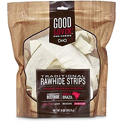 Good Lovin' Traditional Rawhide Strip Dog Chews, 16 oz.