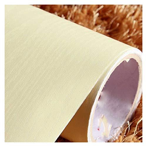 WHYBH HYCSP Selbstklebende Wasserdicht Weiß Holz Tapete Dekorative Film Küchenschrank Schlafzimmer Kleiderschrank Möbel Renovierung Aufkleber (Color : Beige, Size : 40cmX1m)