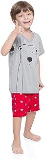 Pijama Curto Malha Alasca Masculino Kids