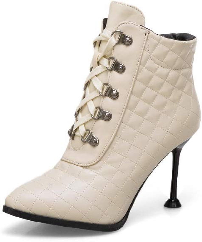 AdeeSu Womens Plaid Solid Fashion Urethane Boots SXC02917