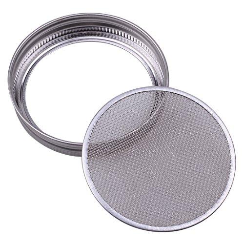 Eastar Couvercle de Germination de Filtre de crépine d'acier Inoxydable pour Le Pot de cannette de Bouche Large de Cuisine