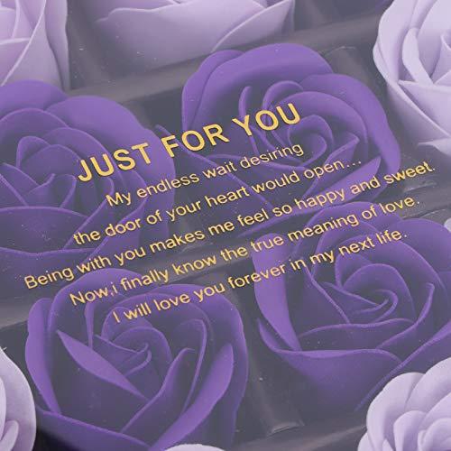Regalo de flores de PE, embalaje delicado Regalo de flores falsas Aspecto exquisito Ampliamente utilizado con caja de regalo para festivos para exteriores(Purple change, Santa Claus)