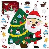 Minterest Arbol Navidad Fieltro, 22pcs Adornos Arbol de Navidad en Fieltro Arbol de Navidad Fieltro Arbol Navidad Fieltro Pared Niños
