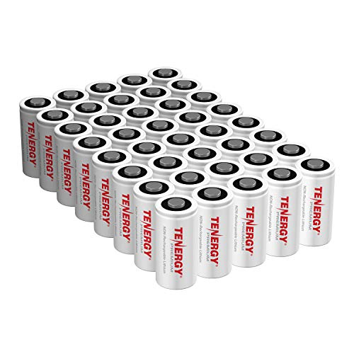 Tenergy Premium 40 Pack NonRechargeable CR123A 3V Lithium Battery, Primary Battery for Arlo Cameras, Photo Lithium Batteries, Smart Sensors, and More