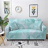 ASCV Hojas Tropicales Hoja de Arce Estiramiento elástico Funda de sofá Decoración Protector de Muebles Funda de sofá Fundas A7 4 plazas