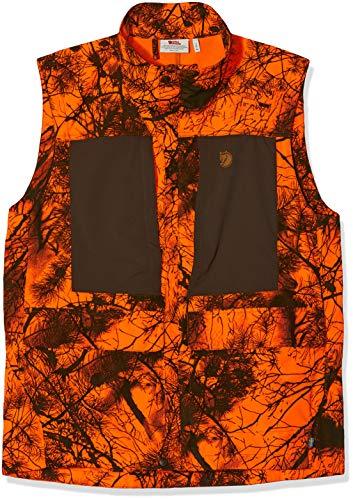 FJÄLLRÄVEN Messieurs Laponie Hybrid Vest Gilet Camo L Camouflage Orange