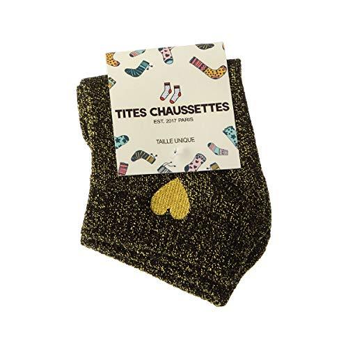 Tites chaussettes Socke kurz - 1 paar - Funkeln - Coton - Doré - Einheitsgröße