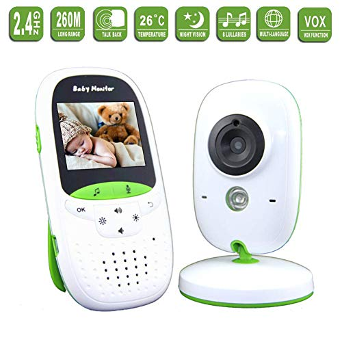 SWEET Moniteur pour Bébé avec 2 Caméras Et Caméra De Sécurité Audio Annke avec Écran LCD 2 Pouces avec Détection De La Température Et Fonction Vocale