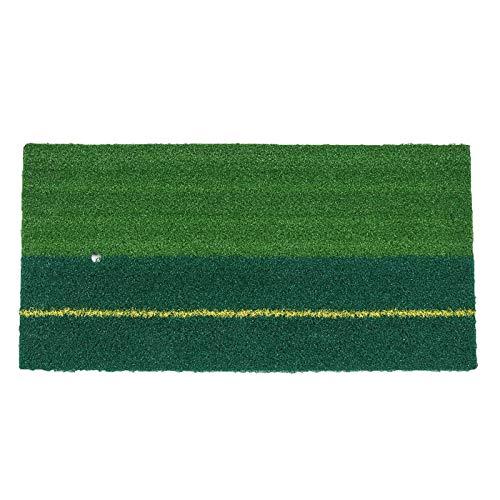 Esterilla de golf de 60 x 30 cm al aire libre de golf de la alfombrilla de golpe de interior al aire libre de la práctica de la hierba de la alfombra para el hogar