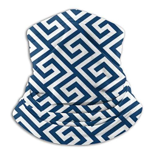 jhgfd7523 Cojín Griego Patrón de Clave Máscara de Cara Protectora Bufanda Mágica al aire libre BandaFace Shield Multifuncional Headwear Polaina de Cuello a prueba de viento Protección UV
