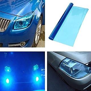 DIYAH 12 X 48 Inches Self Adhesive Headlight, Tail Lights, Fog Lights Tint Vinyl Film (Dark Blue)