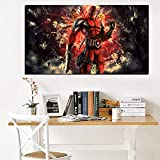 PLjVU HD Imprimir Arte película de Pared Pintura al óleo Lienzo Modular Imagen de la Pared sofá decoración Sala de Estar-Sin marco40x80cm