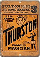 Thurston Magician 金属板ブリキ看板警告サイン注意サイン表示パネル情報サイン金属安全サイン