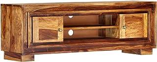 vidaXL - Armario de Madera Maciza con 2 Puertas 2 estantes Mueble bajo Mueble de televisión Mueble de Alta fidelidad ...
