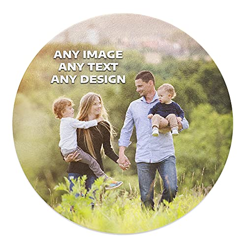 30cm Round Personalised (Any Text/Any Image) Novelty Tempered Glass Chopping Board