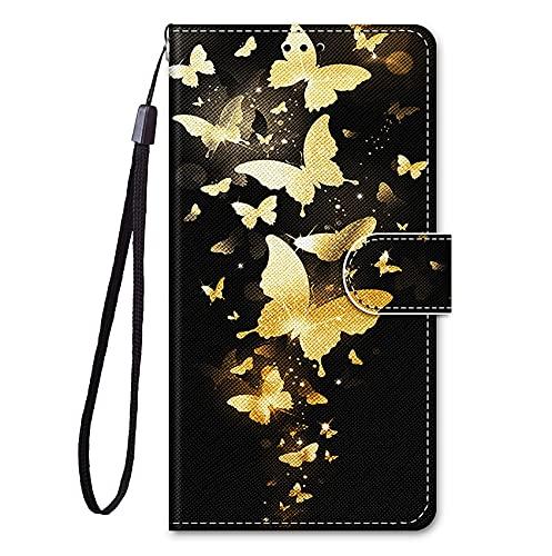 JJSMIDa Capa carteira para LG V50 fofa estilo animal de desenho animado feminino capa carteira flip com [compartimentos para cartão] e [alça de pulso] para LG V50 (JJ#14)