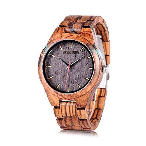 BOBO BIRD Special Design Mens orologi in legno Sport quarzo orologi Cruz V2 Fresh Foam