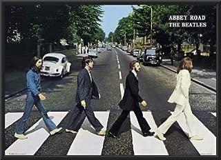 Framed The Beatles (Abbey Road) 36x24 Wood Framed Poster Music Album Art Print