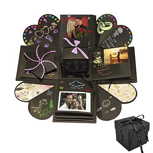 Explosion Box DIY Photo Album Creativo Album Scrapbook per Matrimoni, Festa della Mamma, Compleanno Anniversario,San Valentinoi (Small)