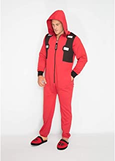 Marvel Deadpool Outfit Mens Jumpsuit, Red-black, Standard