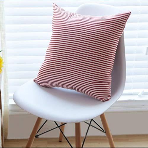 Funda de Almohada Almohada Cuadrada sofá de Oficina cojín de Cintura Almohada de cabecera Almohada de cáñamo de algodón de Lino de Literatura de Rayas Simples japonesas