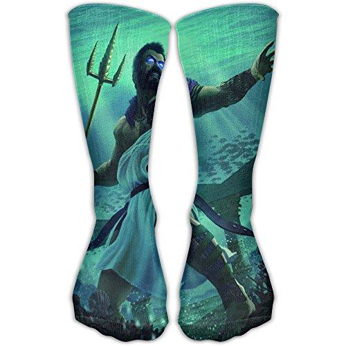 Greek Mythology God Of Sea Poseidon Underwater Fighting Mens Socks Womens Socks 30cm