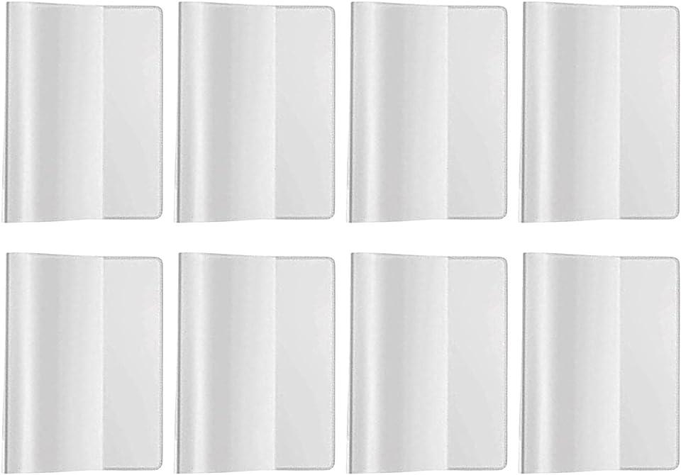 8 Stück Schutzhülle Hülle für den neuen Impfpass Impfbuch Germany Impfbescheinigung Impfausweis für Kinder und Erwachsene Klare Kartenhalter wasserdichte PVC Softcard Hülle (93 mm x 130 mm)