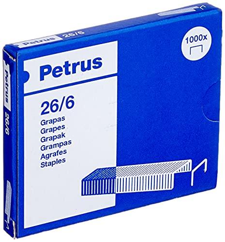 PETRUS 55710 - Grapas Cobreadas de Oficina 26/6 (x1000)