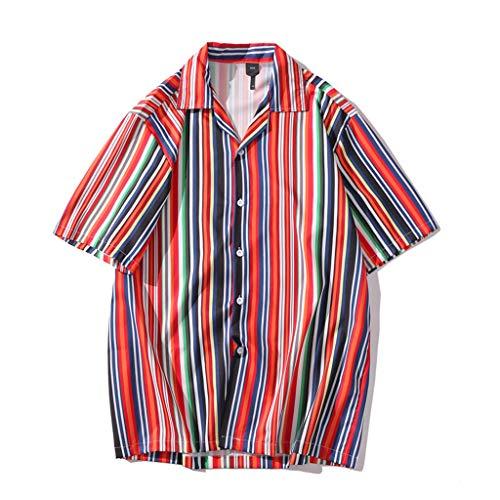Mens Hawaiian Print Shirts,Short Sleeve Casual Aloha Beach Party Tee Shirt Quick Dry Top Blouse