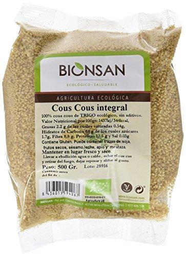 Bionsan Cous Cous Integral Ecológico - 6 Bolsas de 500 gr - Total: 3000 gr