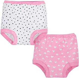 Gerber Baby Girls' 4 Pack Training Pants, Hearts, 2T