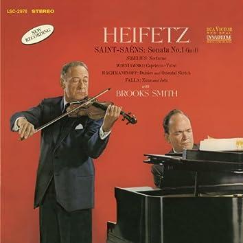Saint-Saëns: Sonata No. 1, Op. 75, in D Minor, Sibelius, Wieniawski, Rachmaninoff, de Falla