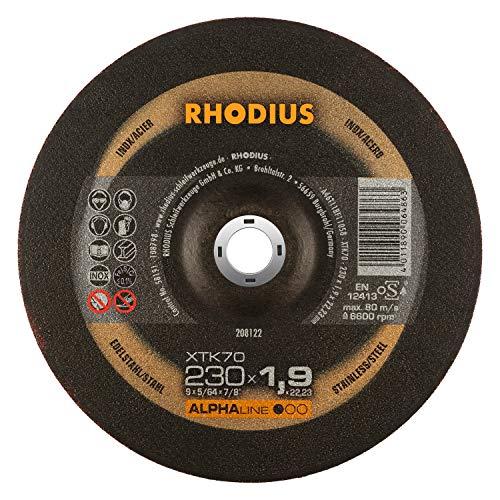 RHODIUS extra dünne INOX Trennscheiben Metall XTK70 Made in Germany Ø 230 mm für Winkelschleifer Metalltrennscheibe 25 Stück