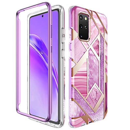 Miracase Compatible with Samsung Galaxy S20 Plus Case(2020 Release),Full Body Glitter Protective Shock-Absorption Bumper Cover Case for Galaxy S20+ Without Built-in Screen Protector,Purple Missouri