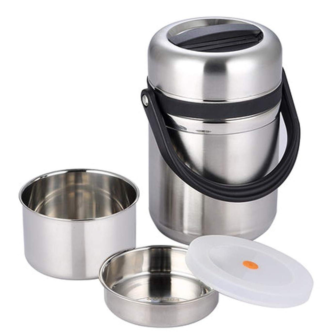 宴会備品導体オーバーフロー防止カバー付き3層ステンレス鋼真空断熱ランチボックス、断熱食品容器、滑り止め、耐傷性、耐久性