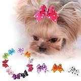 Jocestyle 10pcs Pet Hair Accessories Dog Cat Mini Butterfly Hairpin Hair Elastic Band Headdress