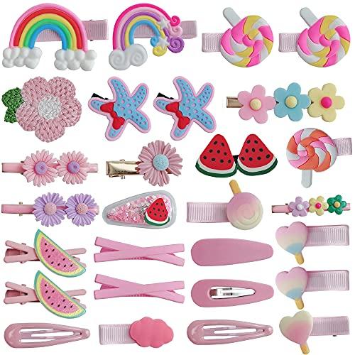 Accesorios Pelo Niña 28 Piezas Clips Pelo Niña Multicolor Orquillas Horquillas Pelo Bebé para Pequeñas Accesorios Pelo Niña