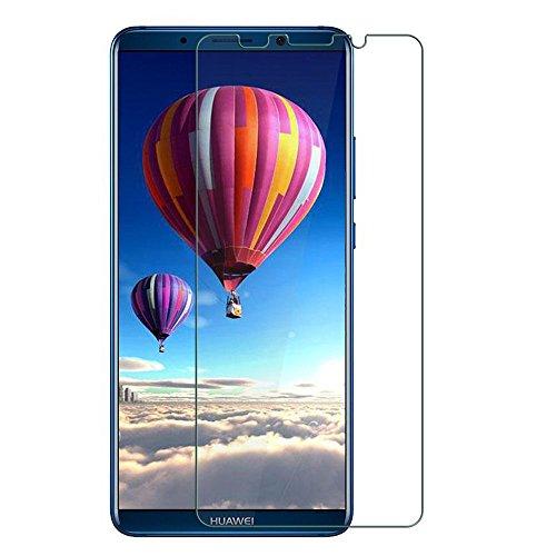 Huawei Mate 10 Pro フィルム,NEKING Mate 10 Pro ガラスフィルム 2018最新版 品質保証 熱彎技術 日本製素材 99.9%極高透過率 業界最高硬度9H/厚さ0.15mm/2.5Dラウンドエッジ「Mate 10 Pro,クリア」